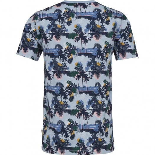 Linen T-shirt All Over Print Total Eclipse Dos