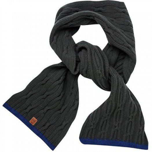 Cable Knit Scarf Forrest Night