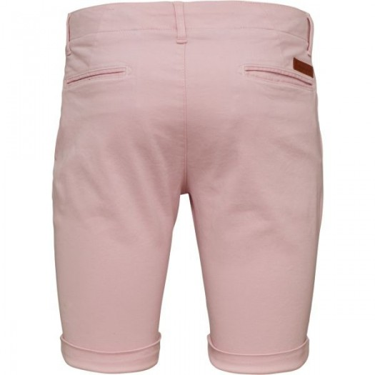 Stretch Chino Shorts Orchid PInk Dos