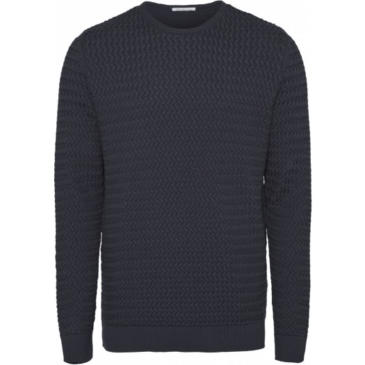 Field O-neck Structured Knit Total Eclipse