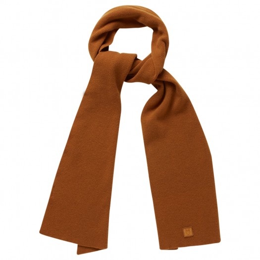 Scarf Organic Wool Buckhorn Brown