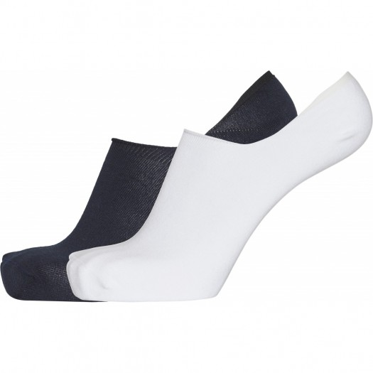 Willow 2 Pack Footie Socks White Black