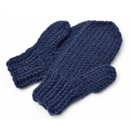 Knitted Eco Mittens 1787 Navy