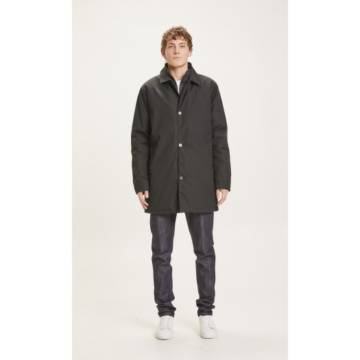 Arctic Canvas Jacket With Buttons Black Jet face