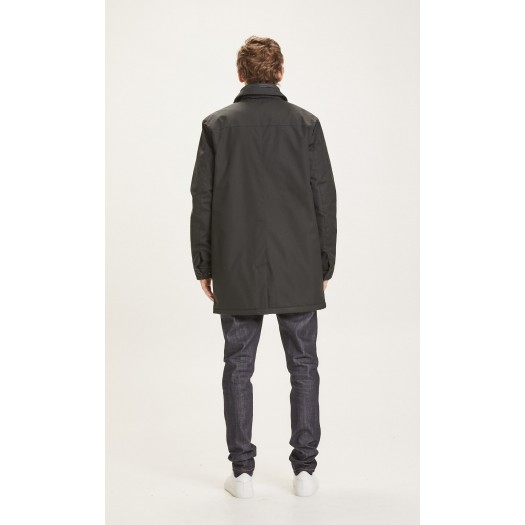 Arctic Canvas Jacket With Buttons Black Jet