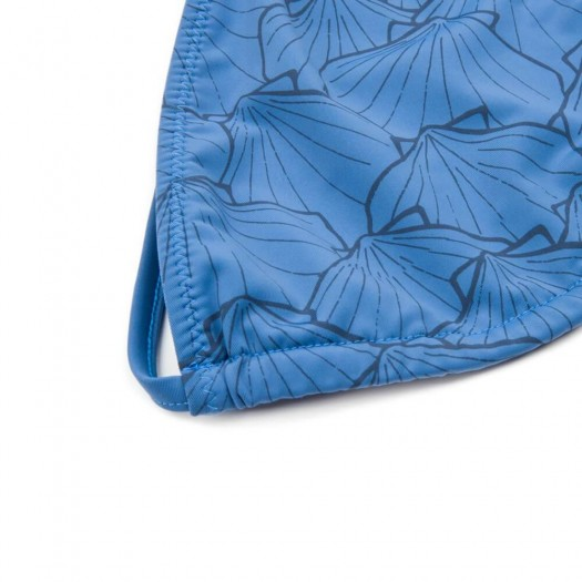 Eco Triangle 1689fa Blue Patterned Detail