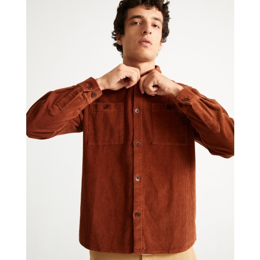 Corduroy Bes Overshirt Clay Red