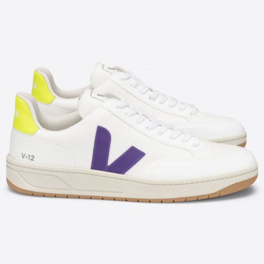 V12 B-Mesh White Purple Jaune Fluo