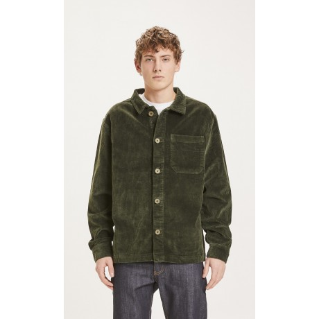 Pine Stretched 8-wales Corduroy Overshirt Forrest Night face