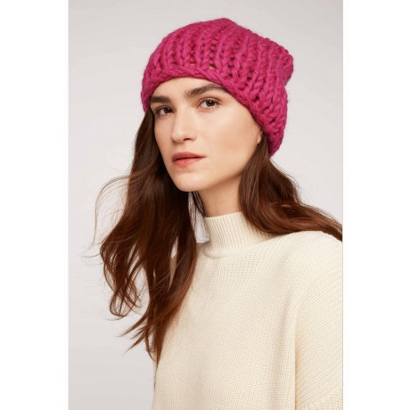 Chunky Knit Hat Pink