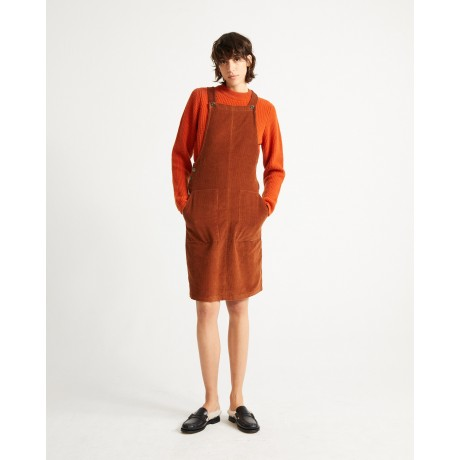 Bell Dress Clay Red face